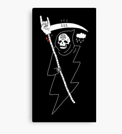 Angel of Death Metal Canvas Print