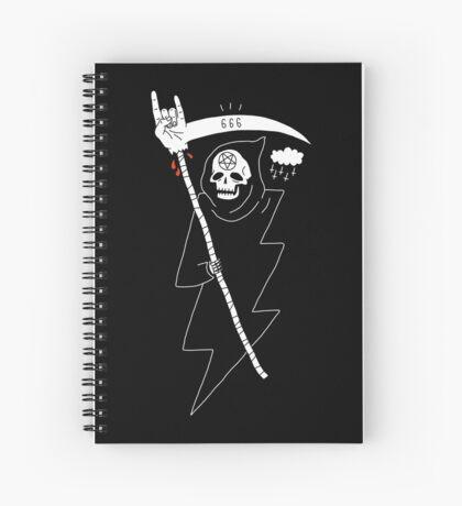 Angel of Death Metal Spiral Notebook