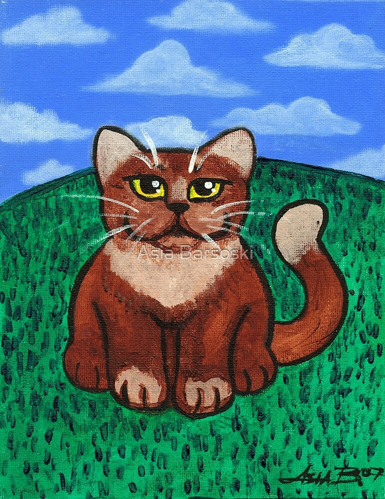 Fat Cat on the Hill by Asia Barsoski