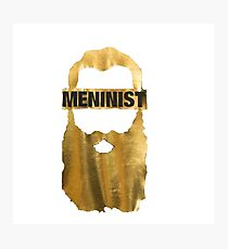 Meninist Limited Edition Gold Beard tshirts, hoodies and more Photographic Print