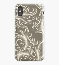 Victorian leaves Seamless pattern iPhone Case/Skin