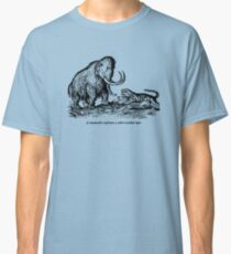 Mammoth confronts a sabre-toothed tiger Classic T-Shirt