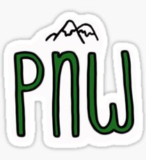 pnw pacific northwest mountains Sticker