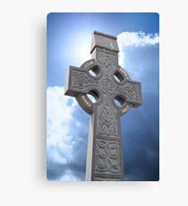 celtic cross head stone Canvas Print