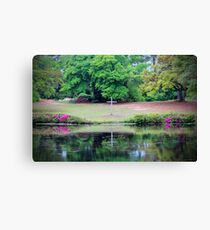 Cross By The Lake Canvas Print