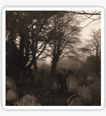 Sepia graveyard Sticker