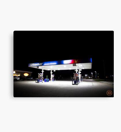 Ultramar - Gas station by night Canvas Print