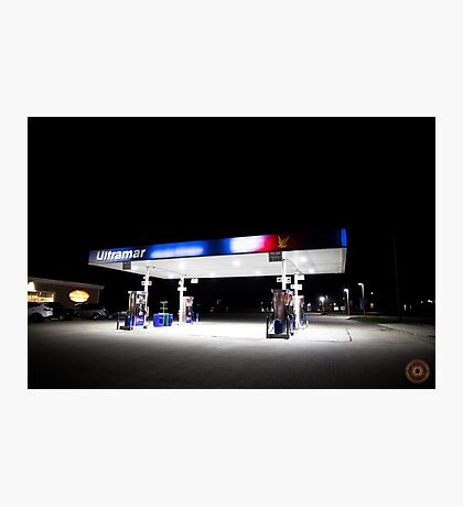 Ultramar - Gas station by night Photographic Print