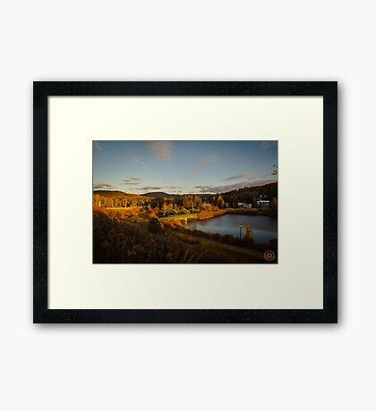 Fall Sunset in Quebec Framed Print