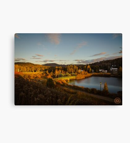 Fall Sunset in Quebec Canvas Print