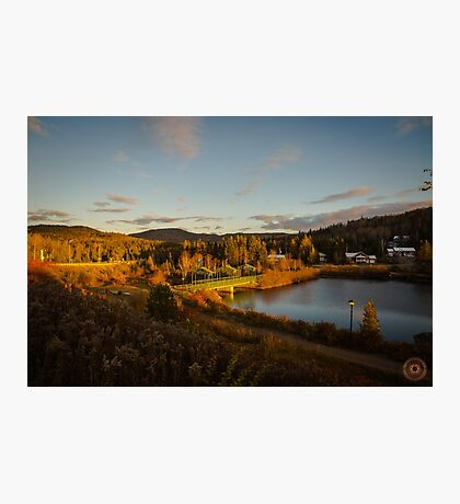 Fall Sunset in Quebec Photographic Print