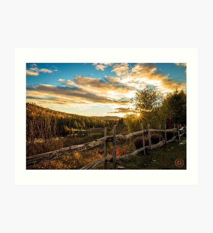 Autumn Sunset Landscape Art Print