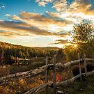 Autumn Sunset Landscape by jpvalery