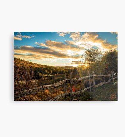 Autumn Sunset Landscape Metal Print