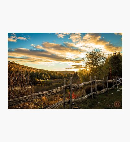 Autumn Sunset Landscape Photographic Print