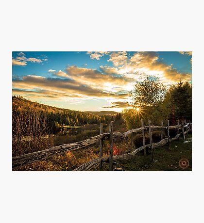 Autumn Sunset Landscape Photographic Print