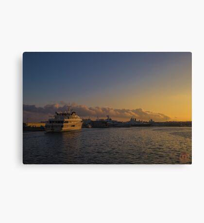 Sunset Seascape Riviera France Canvas Print