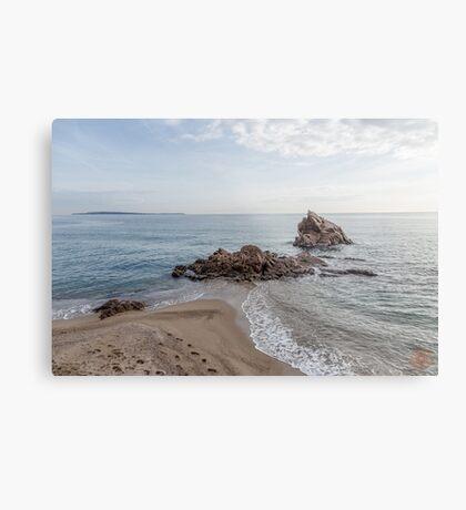 Waves Junction Seascape Metal Print