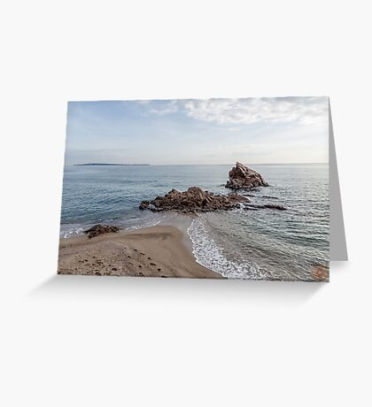 Waves Junction Seascape Greeting Card