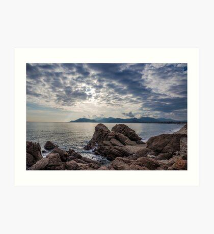 Misty Horizons French Riviera Art Print