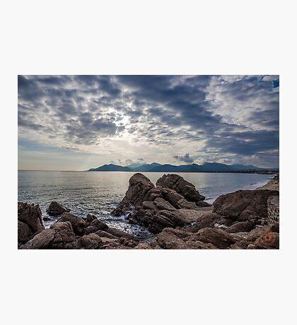 Misty Horizons French Riviera Photographic Print