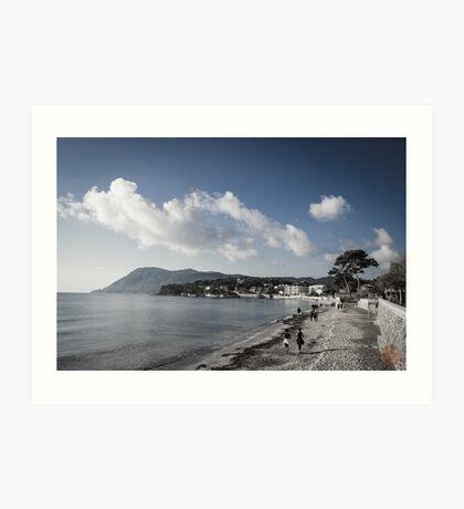 Beach Landscape Southern France Art Print