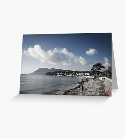 Beach Landscape Southern France Greeting Card