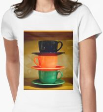 Cups #1a Women's Fitted T-Shirt