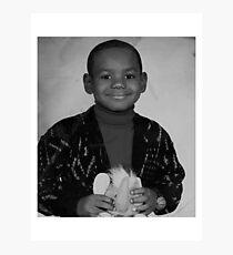 LeBron James (Kid BW) Photographic Print