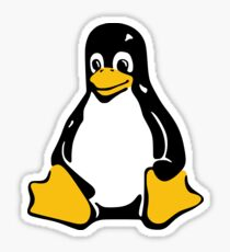 Tux, the official mascot of the Linux Kernel Sticker