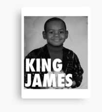 Lebron James (KING JAMES) Canvas Print
