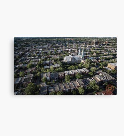 Villeray - Montréal, QC - Drone Canvas Print