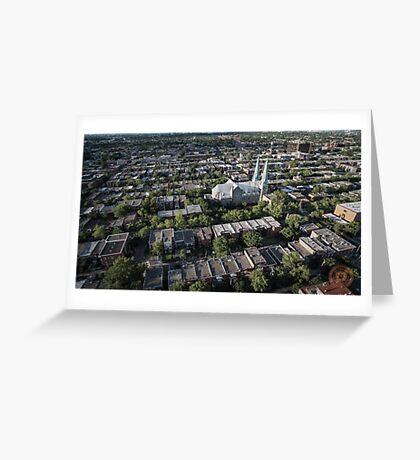 Villeray - Montréal, QC - Drone Greeting Card