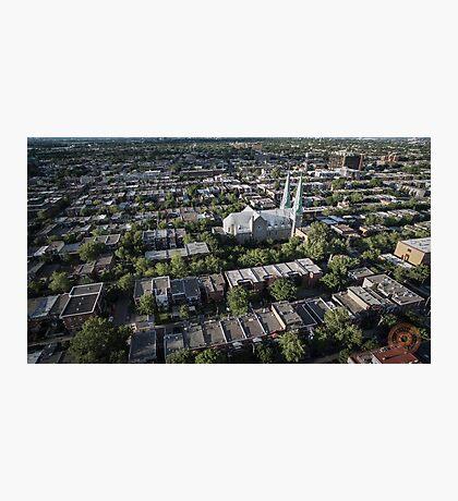 Villeray - Montréal, QC - Drone Photographic Print