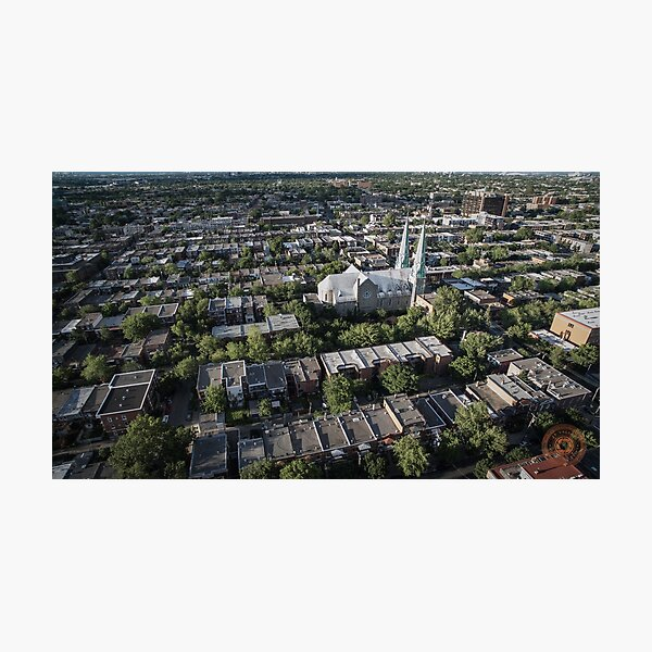 Villeray - Montréal, QC - Drone Photographic Print