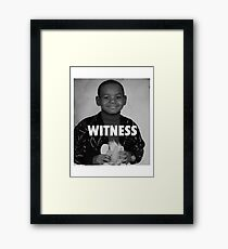LeBron James (Witness) Framed Print