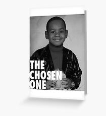 LeBron James (The Chosen One) Greeting Card