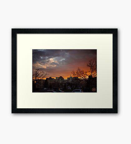 Faith & Fire Framed Print