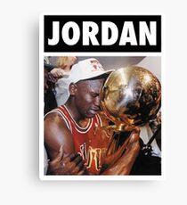Michael Jordan (Championship Trophy) Canvas Print