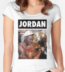 Michael Jordan (Championship Trophy) Women's Fitted Scoop T-Shirt