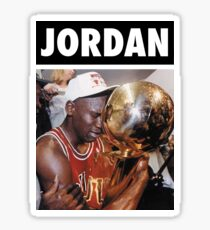 Michael Jordan (Championship Trophy) Sticker