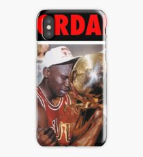 Michael Jordan (Championship Trophy Red) iPhone Case