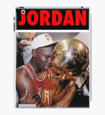 Michael Jordan (Championship Trophy Red) iPad Case/Skin