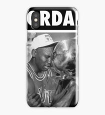 Michael Jordan (Championship Trophy BW) iPhone Case