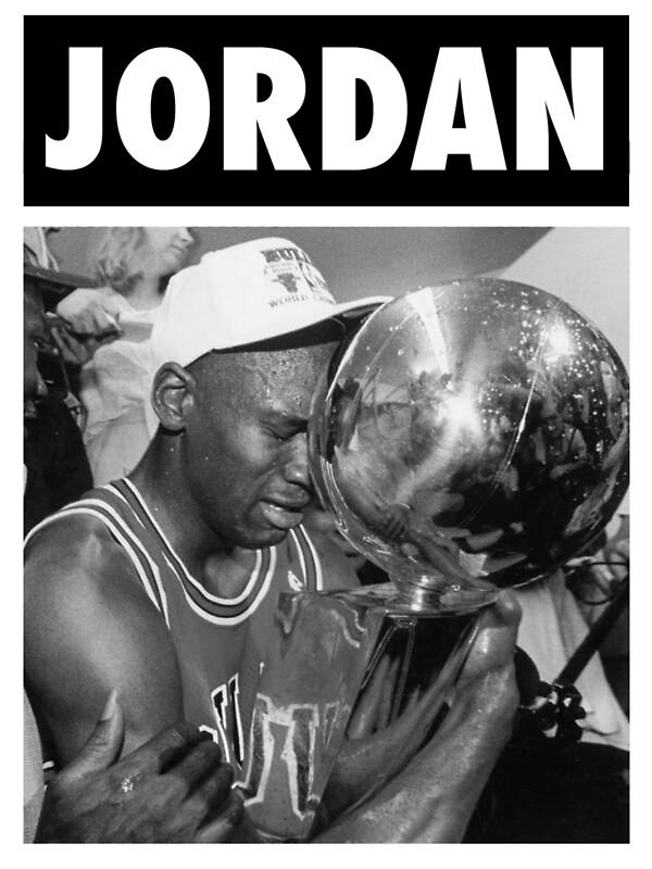Michael Jordan Championship Trophy BW By Iixwyed