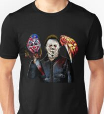 michael myers- past present - masks T-Shirt