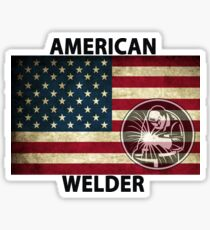 American Welder Made in the USA Shirt Poster Sticker Cases Covers  Sticker