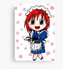chibi maid Canvas Print
