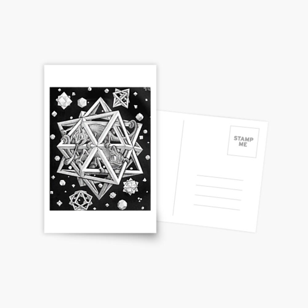 MC Escher Halbton Postkarte