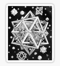 MC Escher Halftone Sticker